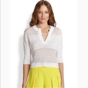 Alice + Olivia Sheena Sheer Crop Sweater XS